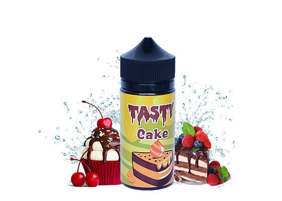 TASTY Flavors 100ml Electronic Cigarette Juice Glass Dripper Bottle With Child - Resistant Dropper Cap supplier