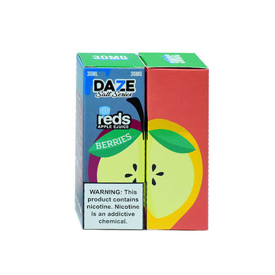 ODM E Cigarette Liquid Salt - Reds Salt Strawberry Lemon Flavors Plastic Bottle Packaging