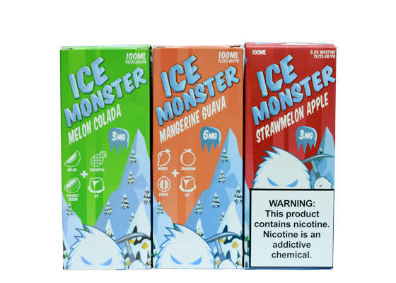 Ice Monster Mangerine Guava Flavors E Cigar Juice Plastic Bottle With Child - Resistant Dropper Cap