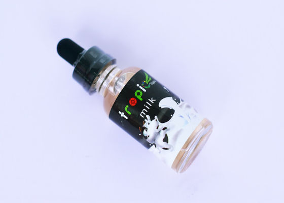 Traditional Pure Milk E Liquid , Custom 30ml E Juice With Glass Bottle