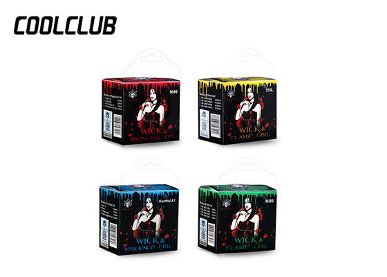 Customize Vape Wire Wick And Raging Fire Coil Package Size 70mm*65mm*50mm